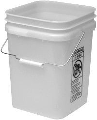 4 Gallon Square Plastic Pails Fda Food Grade Price Each Plastic Pail Plastic Buckets Hdpe Plastic