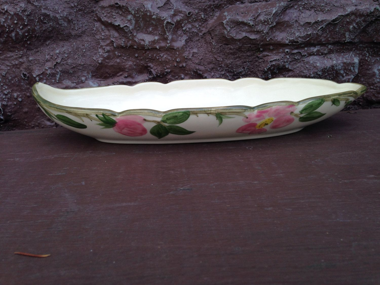 Franciscan Desert Rose 1940s Oval Celery Relish Dish Pickle Tray ...