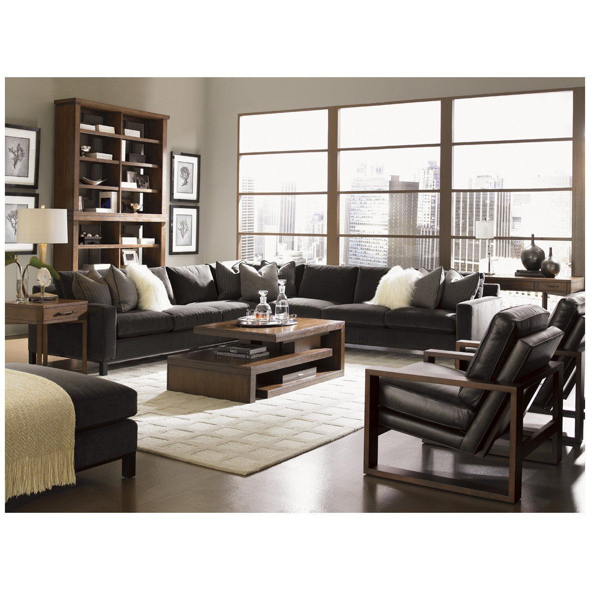 Lexington 11 South Chronicle Sectional Luxury Furniture Upscale