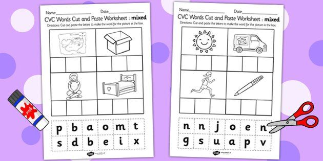 Number Names Worksheets cut and paste worksheets Free – Cut and Paste Worksheets for Kindergarten