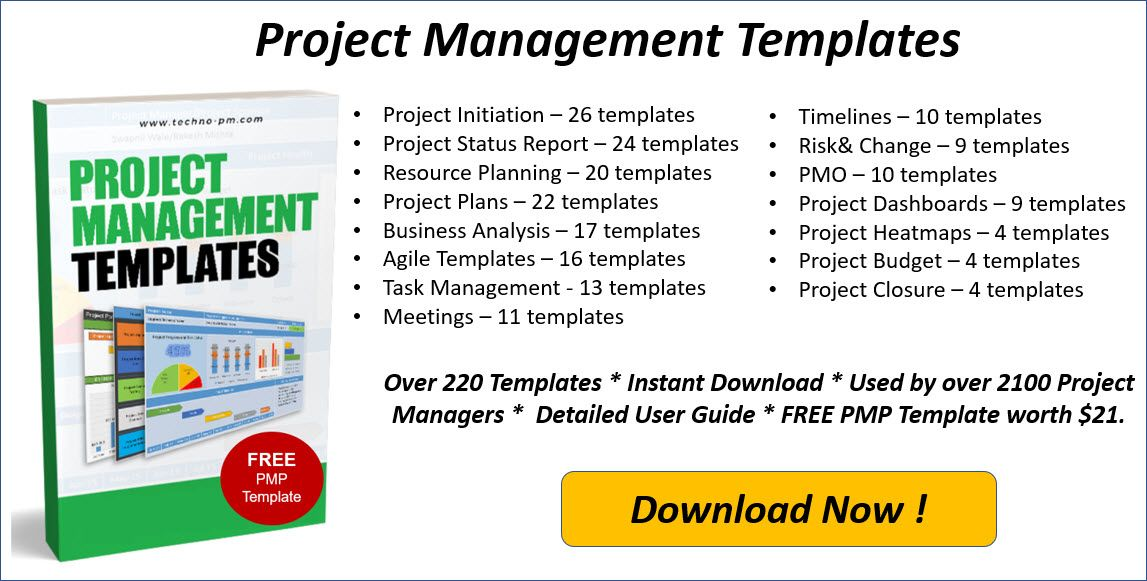 One Page Project Manager Template Excel Project Management