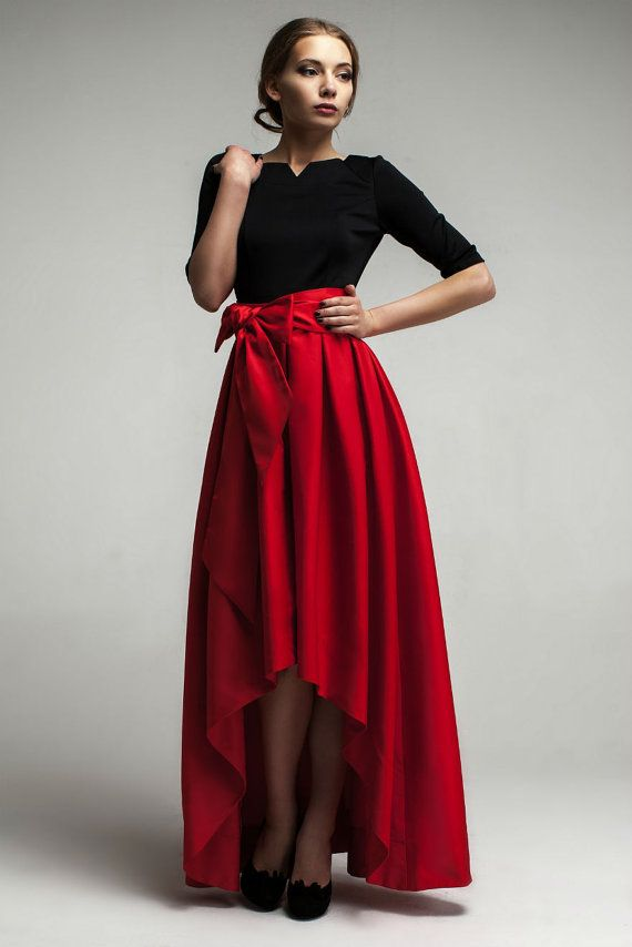 Carmen- Maxi Dress Formal,Asymmetrical Skirt Evening Dress with ...