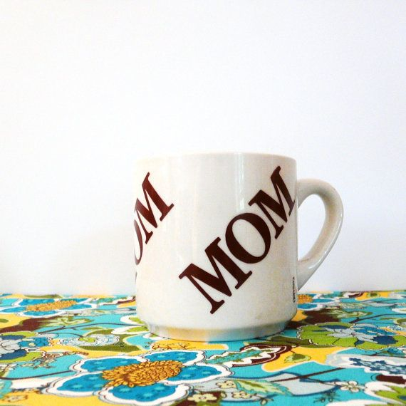 mom vintage mug hoffritz coffee mugs  ///  kitsch by thriftonica, $8.00