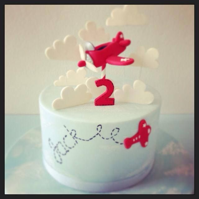 Groovy Simple But Sweet Little Airplane Cake Airplane Birthday Cakes Funny Birthday Cards Online Alyptdamsfinfo