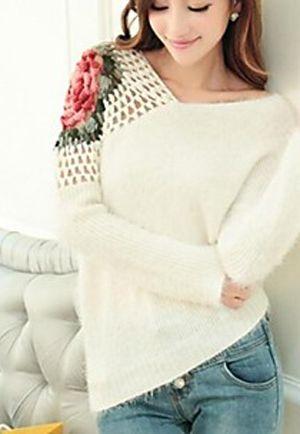 Crochet Cut Out Sweater