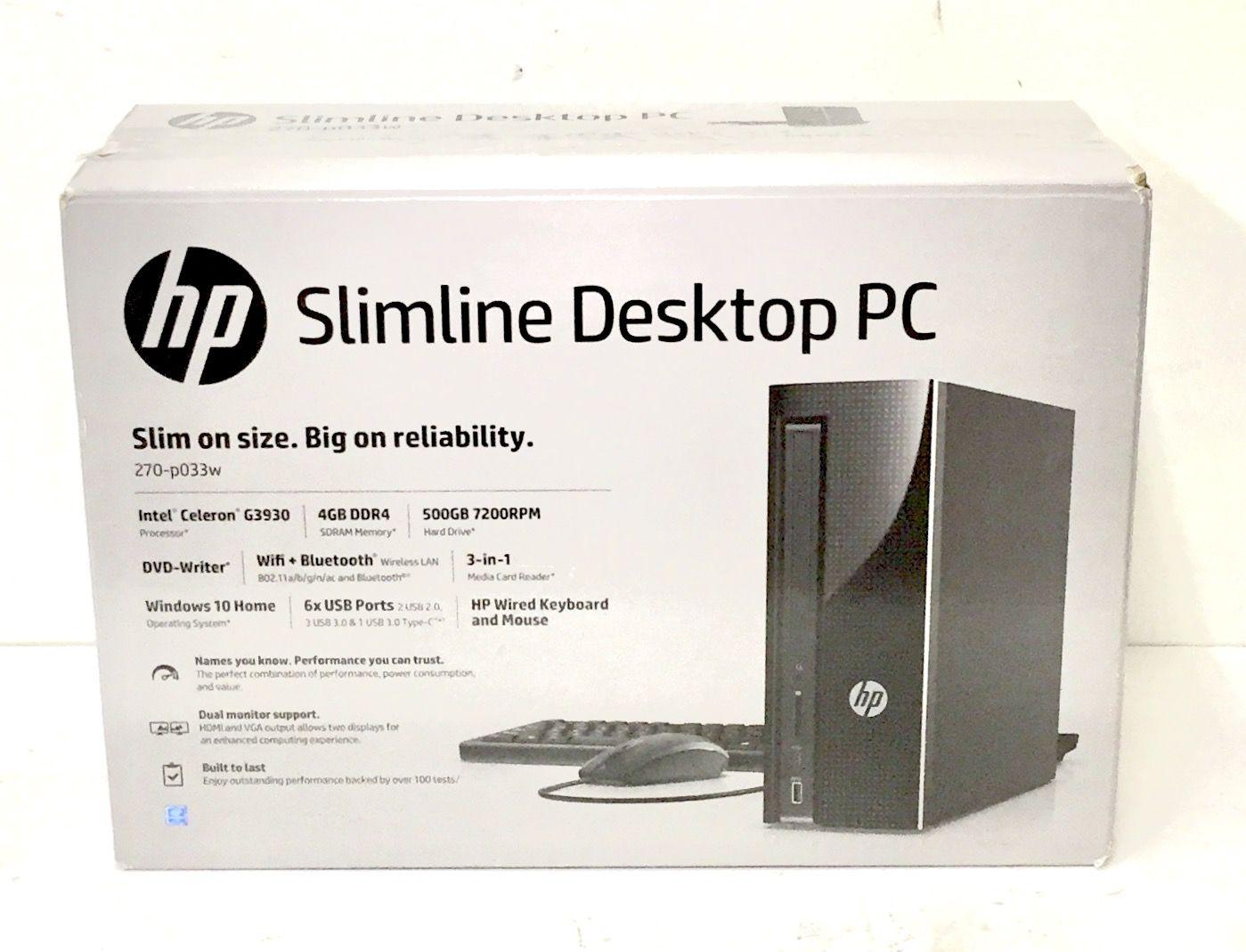 Computer HP Slimline Desktop 270-p033w $313.95 @ Walmart-Keeaumoku ...