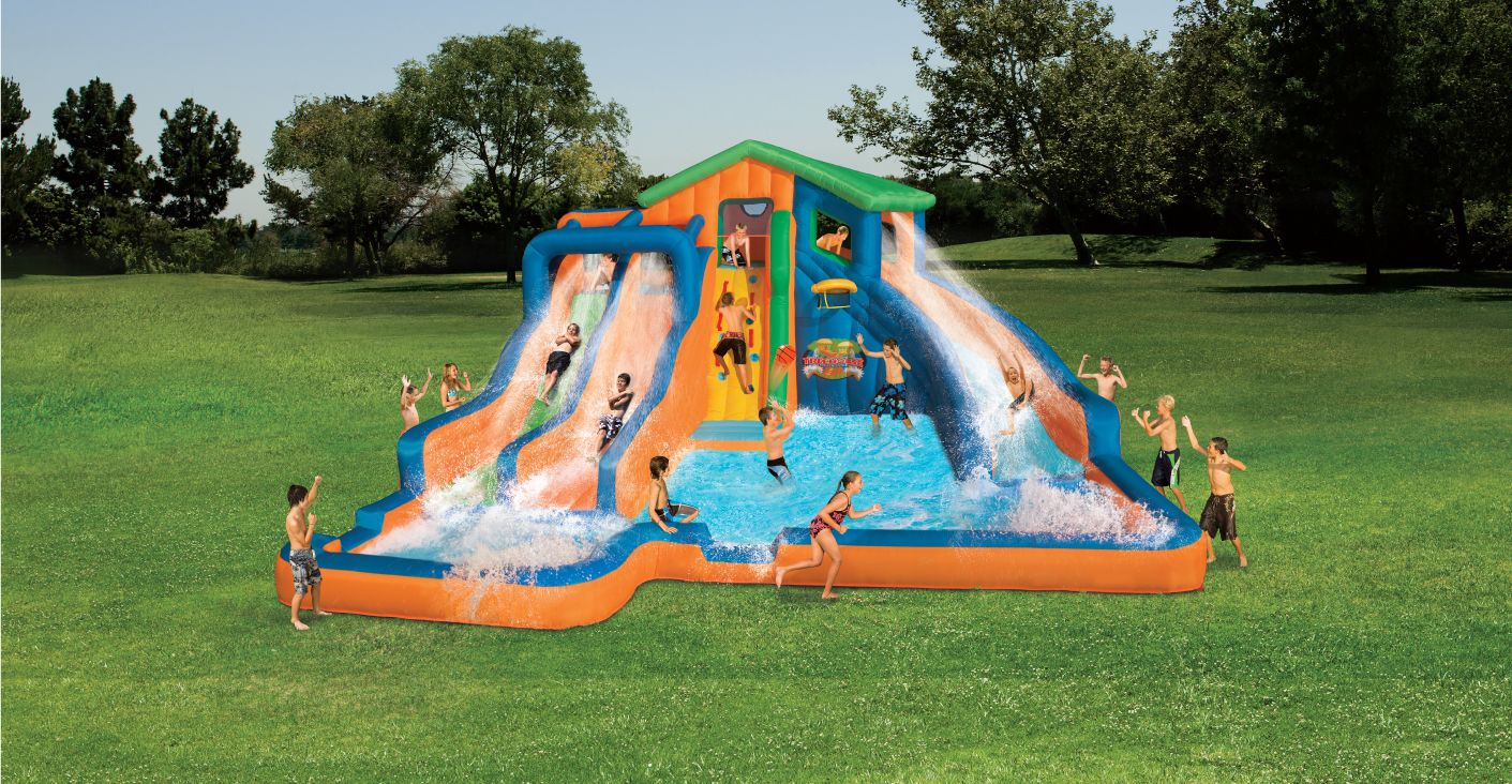 Lovely Home Inflatable Water Slides.