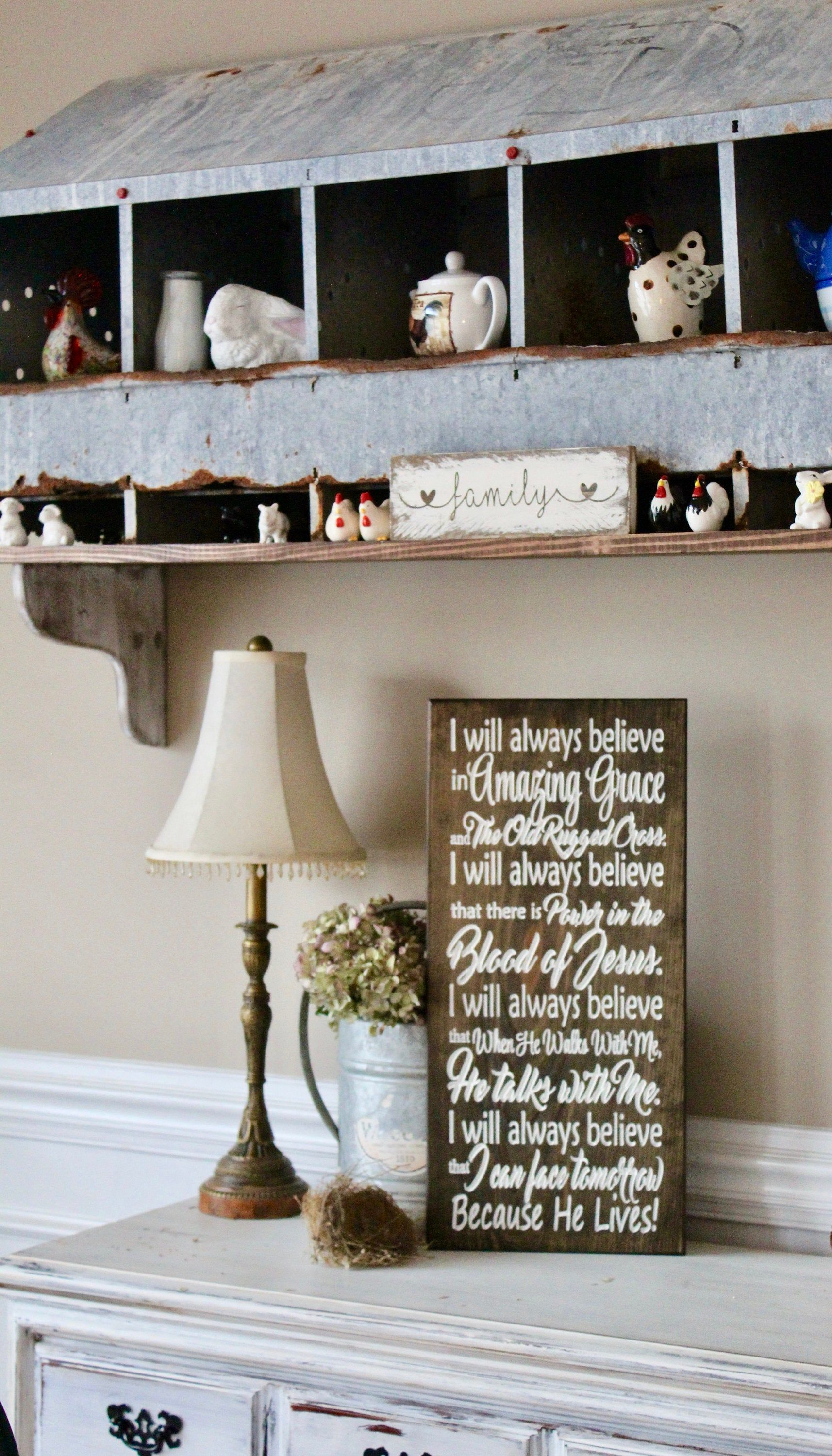 I Will Always Believe In Amazing Grace Engraved Wood Sign