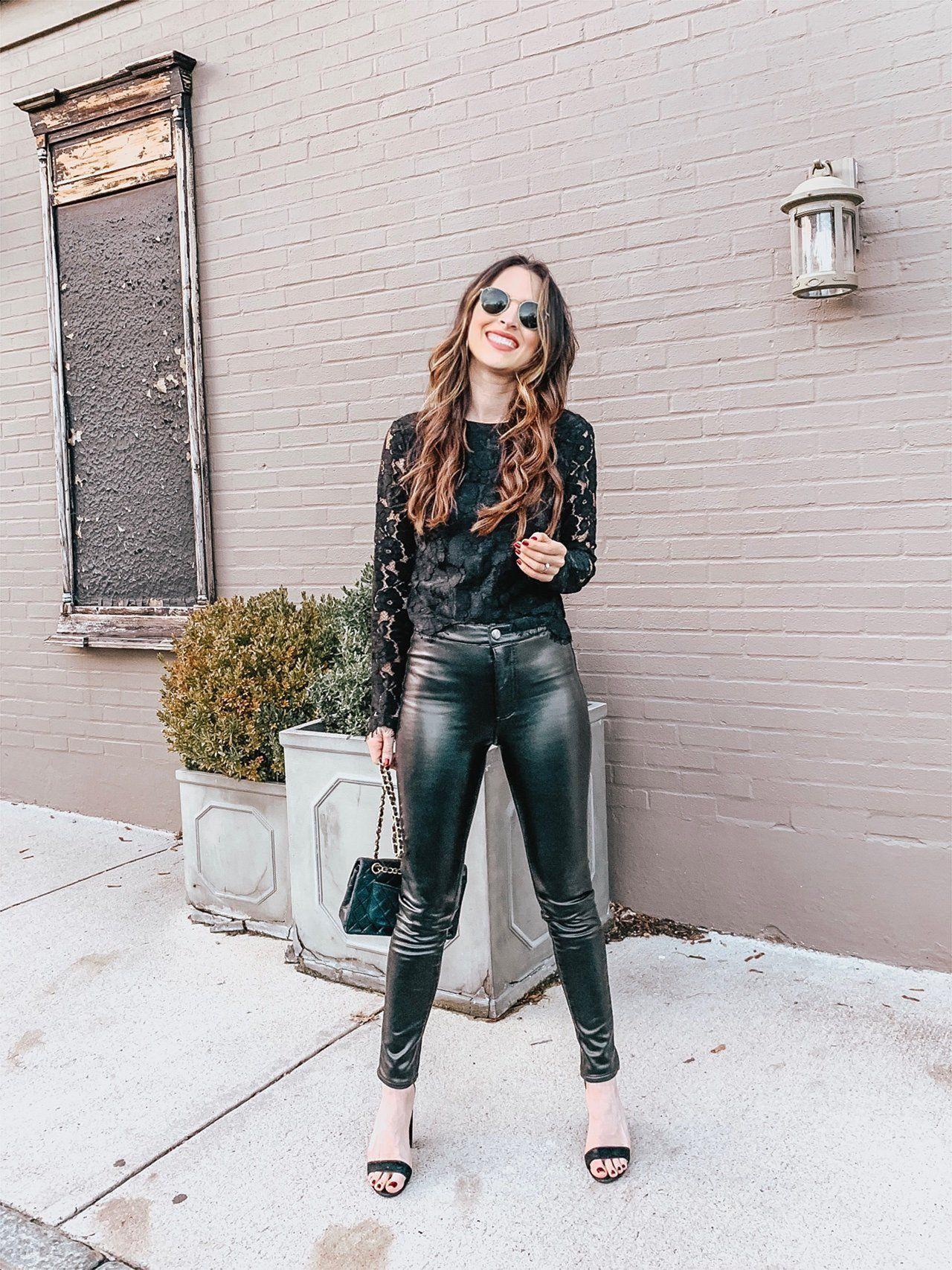 how to style faux leather pants 3 ways  leder leder