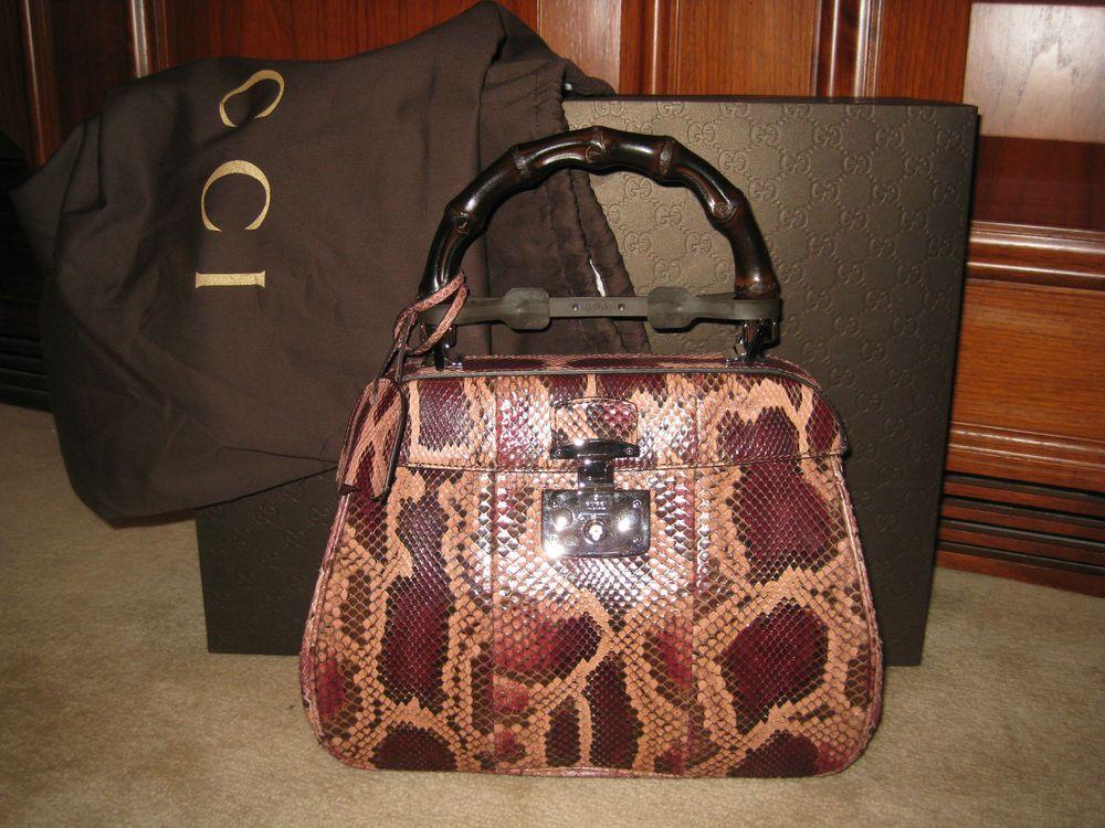 Lilith medium bamboo-handle snakeskin bag Gucci 0MJeBSOf5