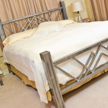 W Contemporary Steel Bed by Boltz | Metal furniture | Pinterest ...