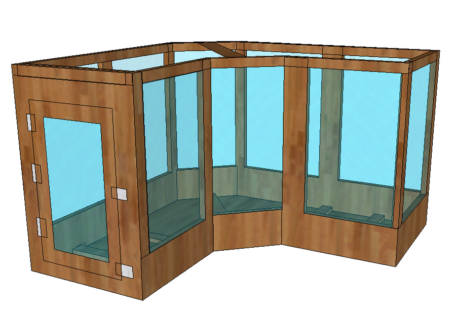 tegu cage design done in google sketch up this enclosure has been