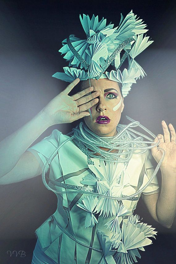 Paper Avant Garde editorial look costume armour by bwilkerson74
