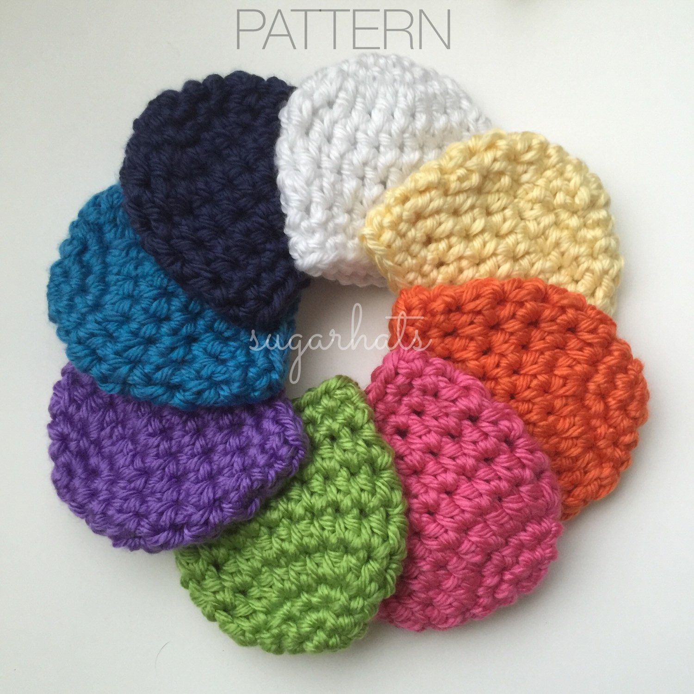 Crochet Pattern - Baby Hat Pattern Crochet CHUNKY HAT - Newborn ...