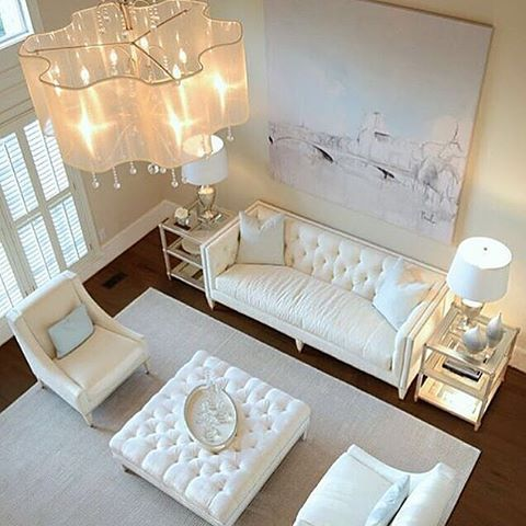 stunning vintage modern living room honeysuckle life   Stunning all white decor by the incredibly talented ...