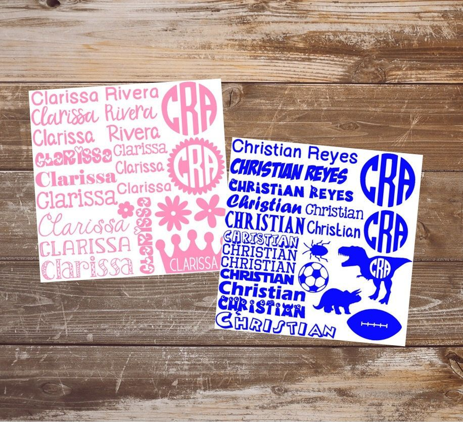 School Supplies Name Labels Back To School Vinyl Name Labels Etsy In 2020 School Supply Labels School Supplies Vinyl Sticker Sheets