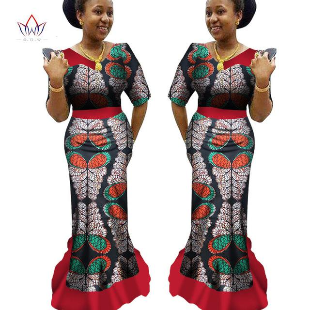 c764028e879 African Traditional Clothing Ankara Print Dashiki V-Neck Long African –  Owame