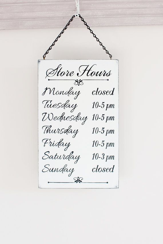 Business hours sign store hours sign wall signs for business business hours sign store hours sign boutique sign by inmind4u accmission Images