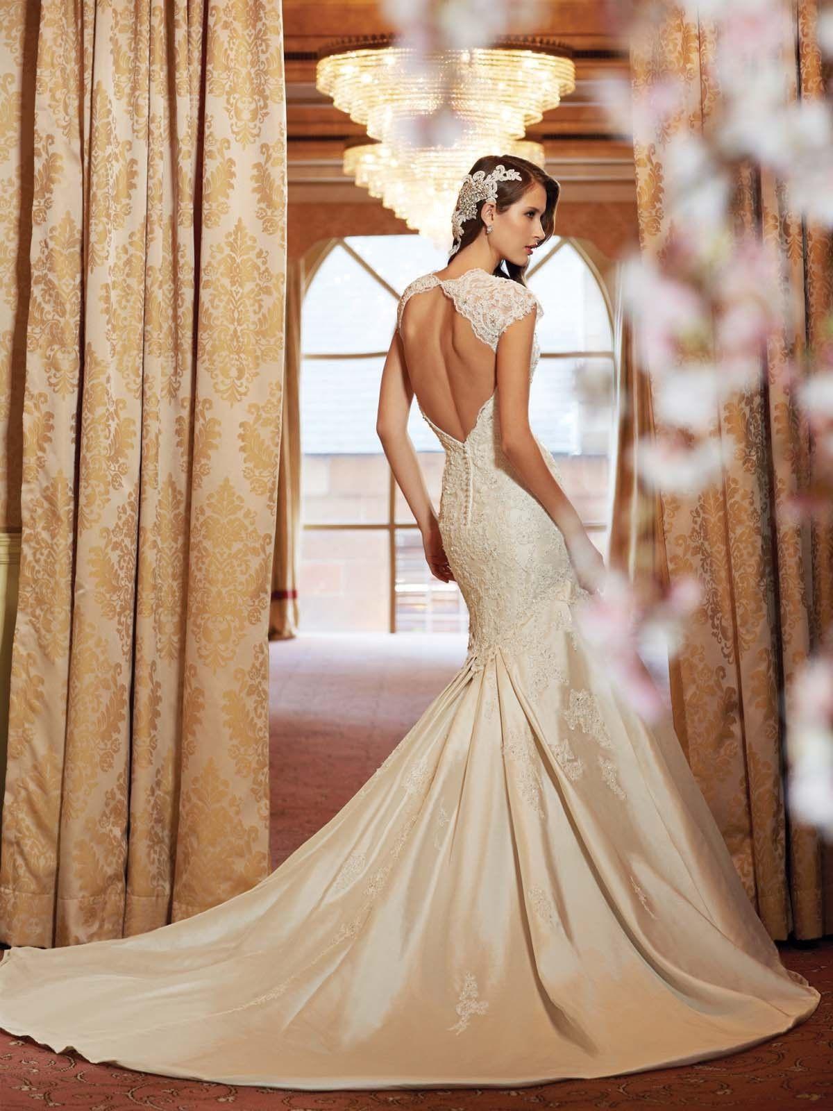 Silk-Backless-Wedding-Dresses- | Backlees Wedding Dress | Pinterest ...