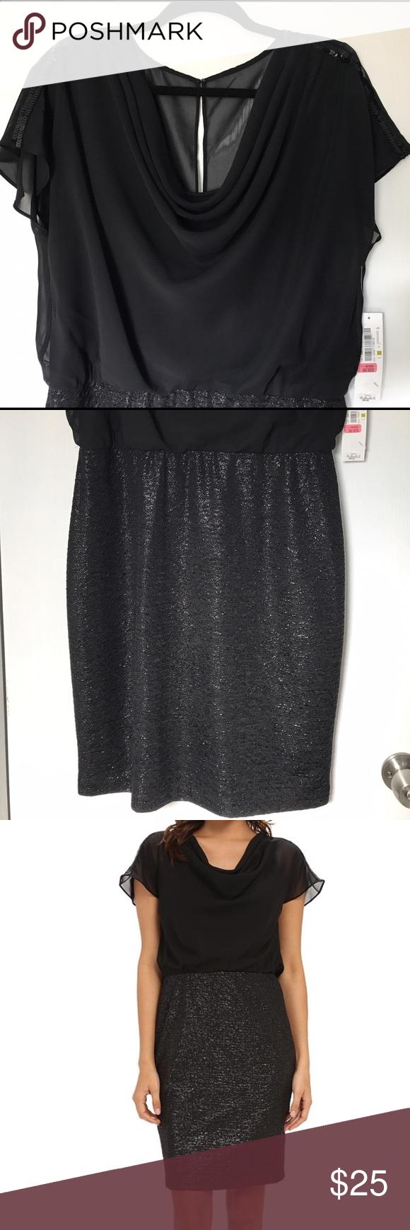 London Times Black Dress W Sheer Top For Coverage London Times Black Dress Sheer Top Sparkly Skirt [ 1740 x 580 Pixel ]
