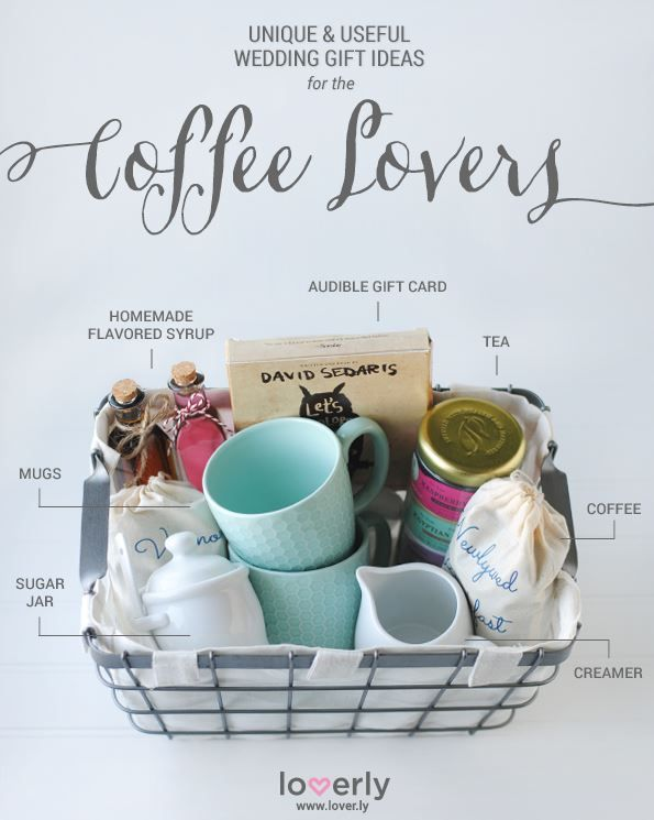 Wedding Gift Ideas Perfect For Coffee Lovers Baskets Diy
