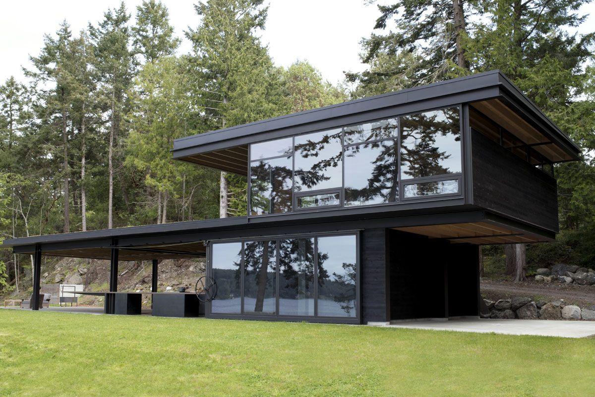 This luxe northwestern cabin by olson kundig literally - Casas prefabricadas mediterraneas ...