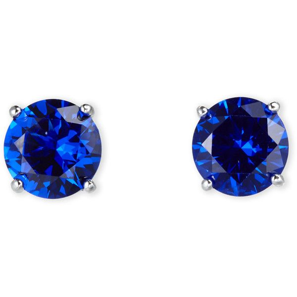 Jardin Silver Tone Blue Cubic Zirconia Stud Earrings 20 Liked On