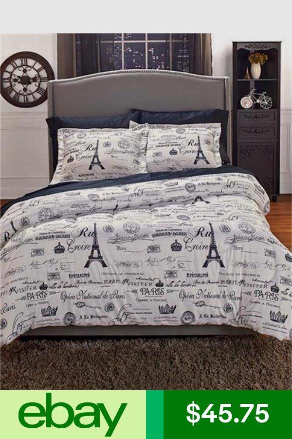 Comforter Sets Paris Bedding, Travel Themed Twin Bedding