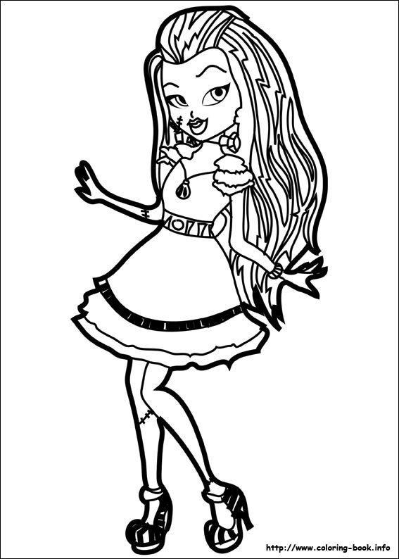 16 Monster High Printable Coloring Pages For Kids Find On Book Thousands Of