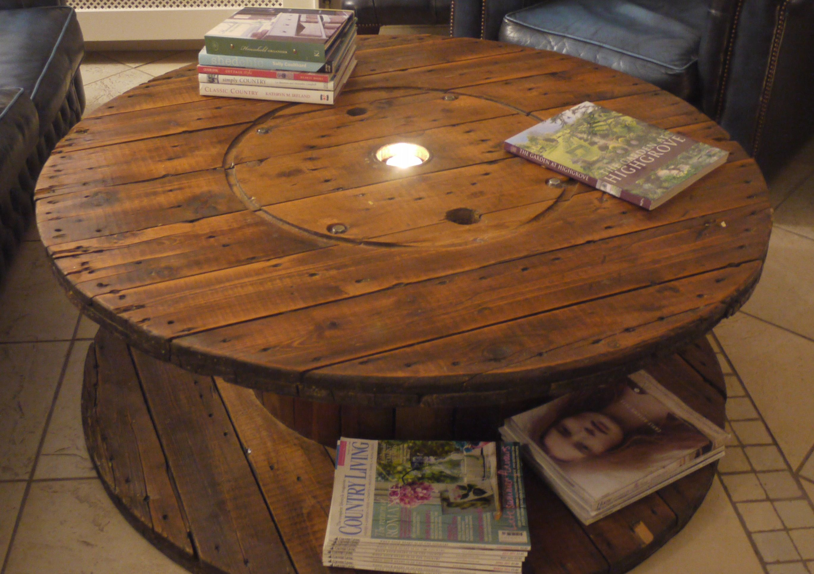 Outside Coffee Table With Images Spool Furniture Repurposed Decor