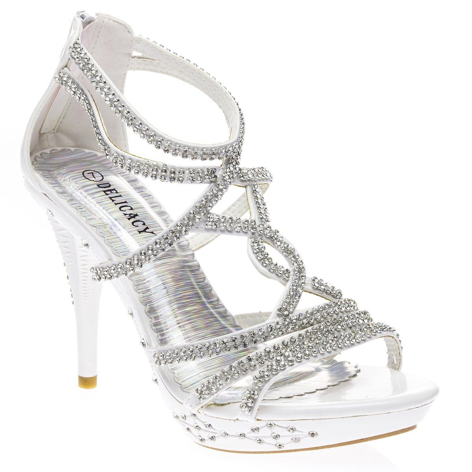 09b40f79acd1 Amazon.com  Delicacy Womens DELICACY32 Open Toe High Heel Stiletto Pump  Shoes  Shoes