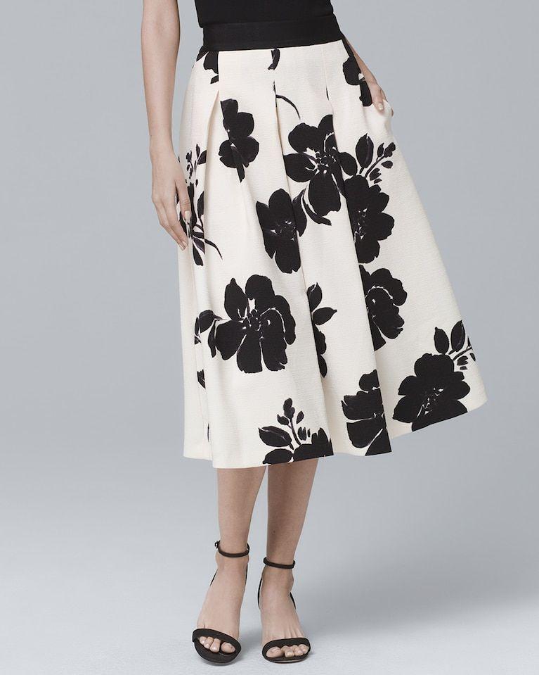 bdfb205a27 Women s Floral-Print Full Midi Skirt by White House Black Market ...