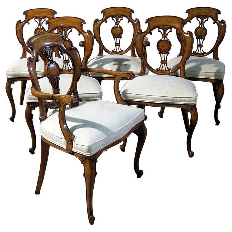 Set Of 6 French Louis Xv Or Swedish Style Dining Chairs In 2020 Dining Chairs Victorian Dining Chairs French Dining Chairs