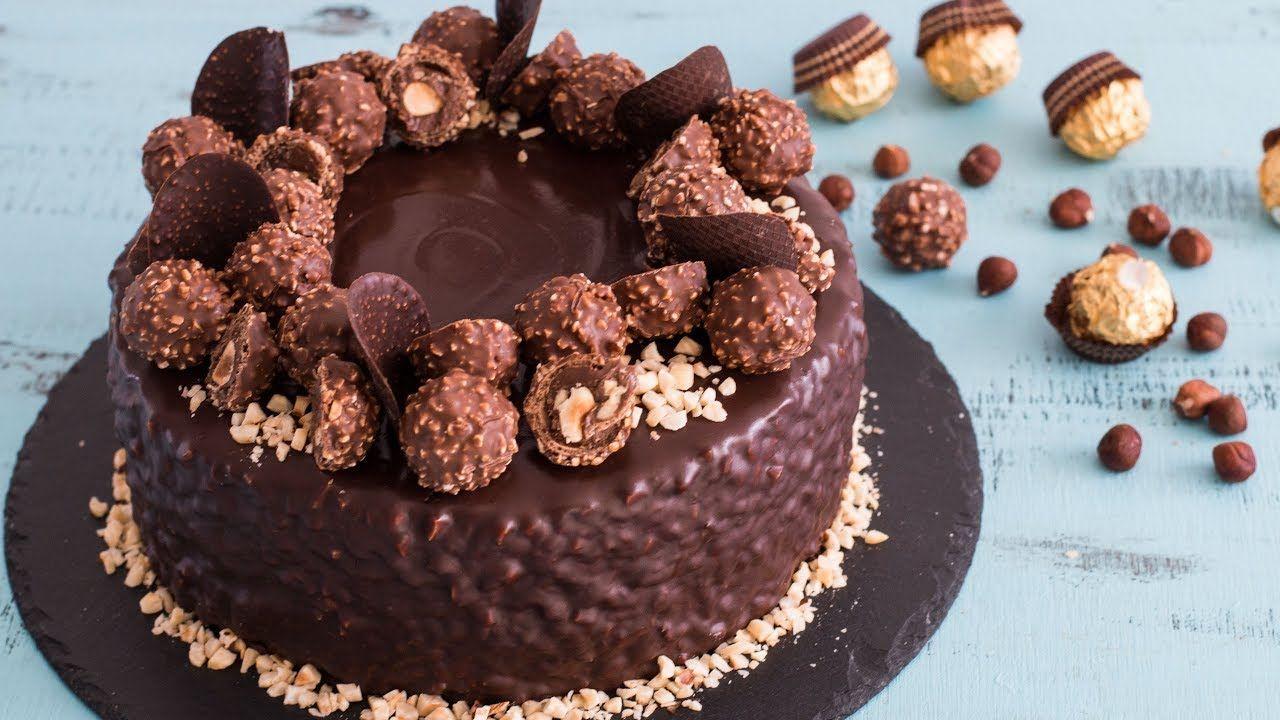 Ferrero Rocher Cake 4k Video Youtube Kochrezepte