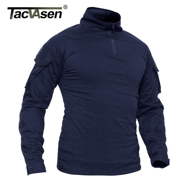 TACVASEN Breathable Mens Long Sleeve Polo Shirt Pullover Work Sports Shirts Tops