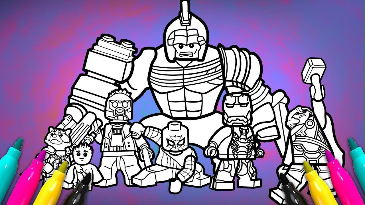 0b14c5a64d4bcc362c4ecb7607563192 » Lego Avengers Infinity War Coloring Pages