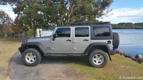 AEV Roof Rack On JK Jeep Wrangler. Adds No More Than 4 Inches To The