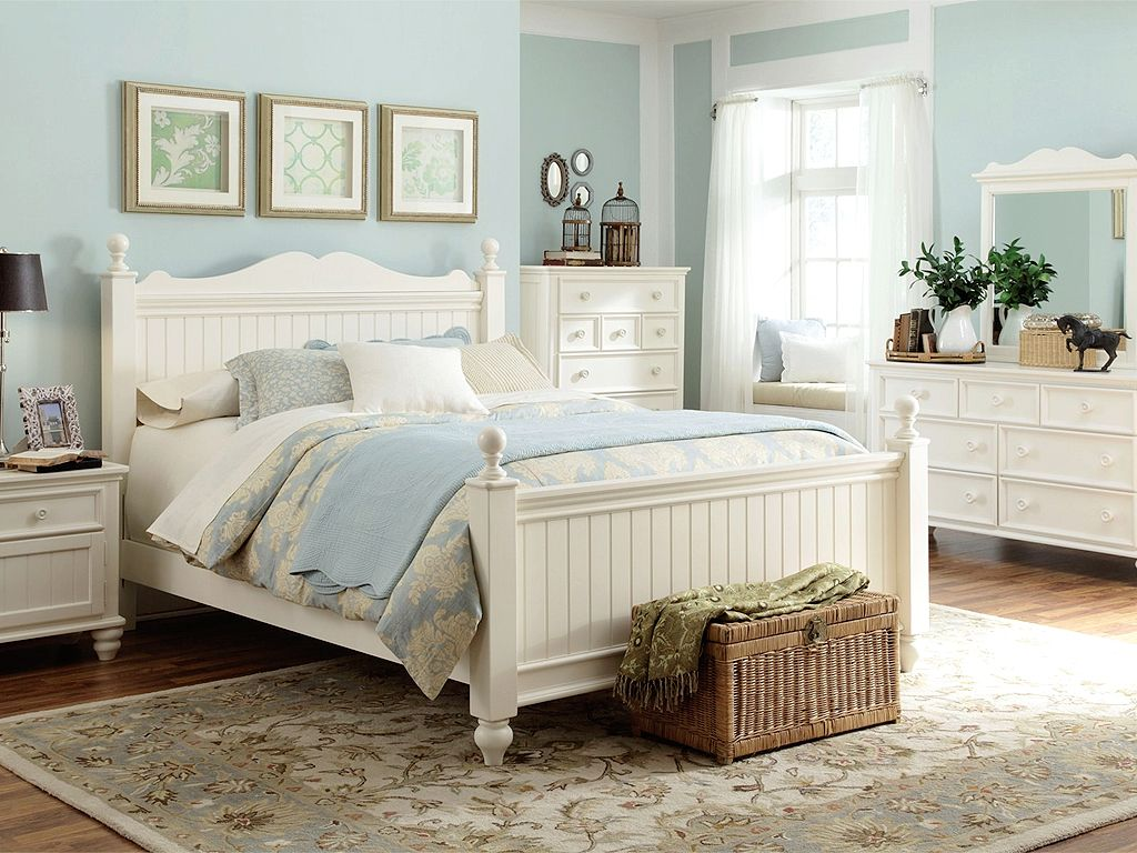 Karina White Country Style Bedroom Furniture - SurriPui.net