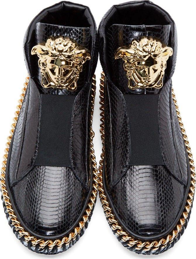 6e1cedc334b günstig preiswert Versace Black Snakeskin Medusa Sneaker online kaufen