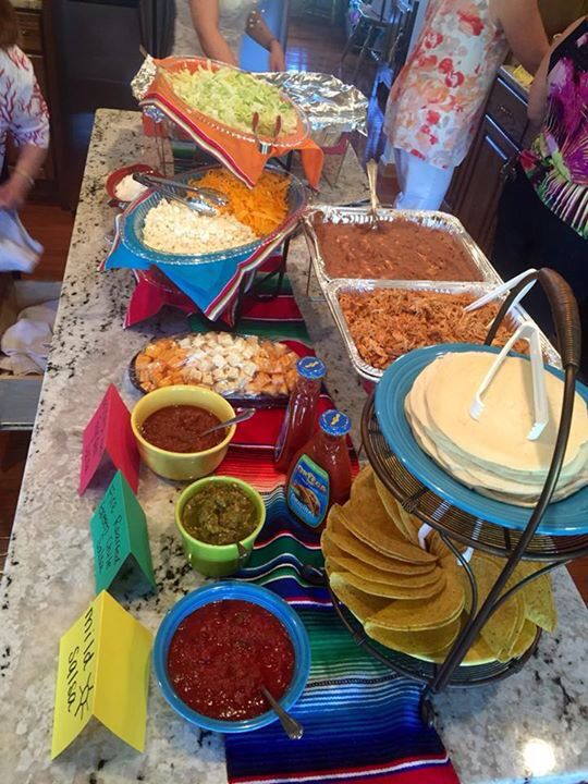 mexican buffet bridal shower fiesta taco party taco bar party rh pinterest com