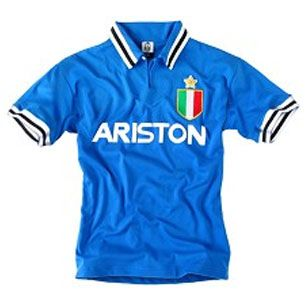 e61d61977d8 Juventus Blue Ariston Shirt | JUVENTUS | Retro football shirts ...