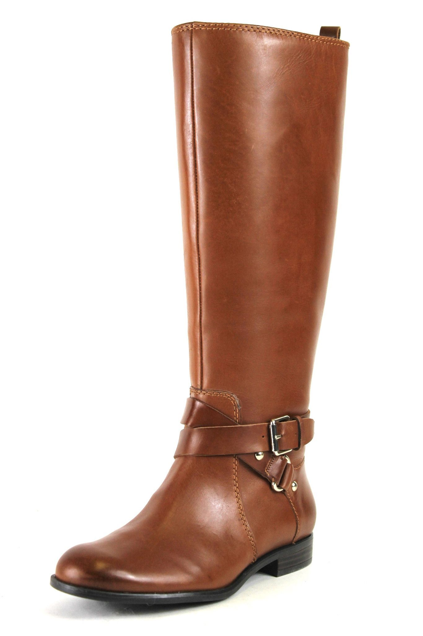 87948e33ac1 Enzo Angiolini Light Brown Daniana Wide Calf Boots