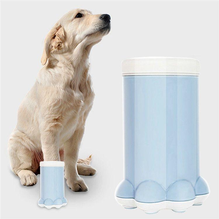 ペット用足洗いカップ 爪クリーナー 犬猫用 足洗い ブラシカップ 柔軟 爪柄 清潔簡単 携帯便利 散歩後 ペット用品 ペット 犬