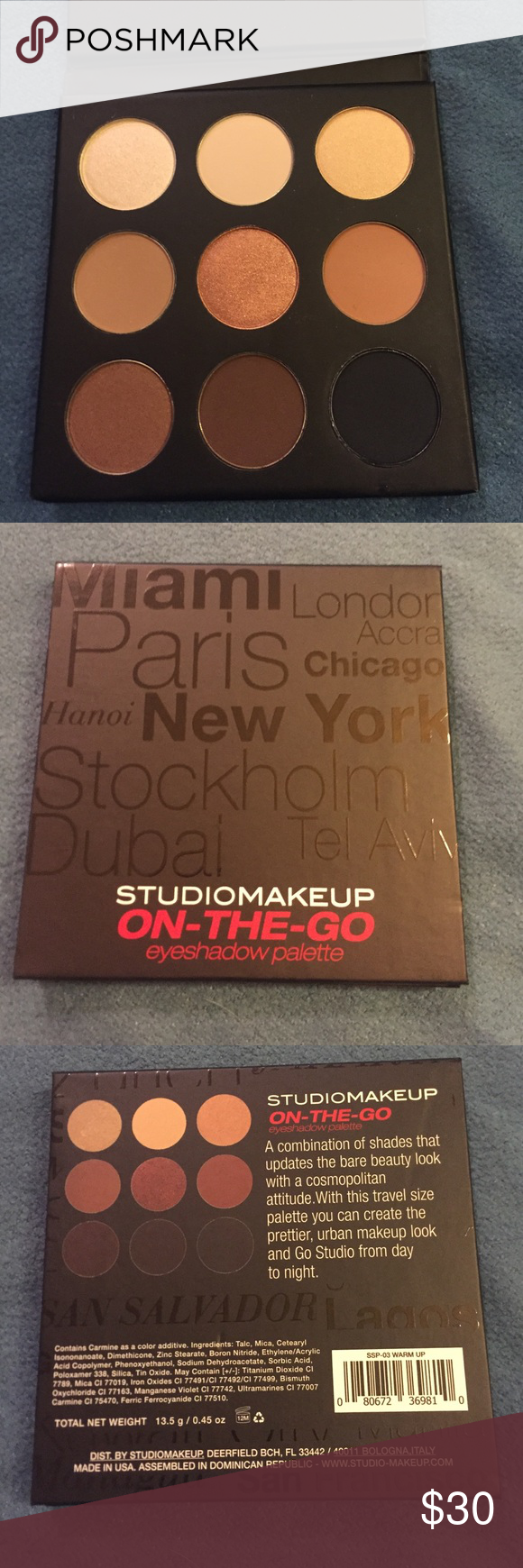 Studio makeup on the go palette day to night NWT Bare