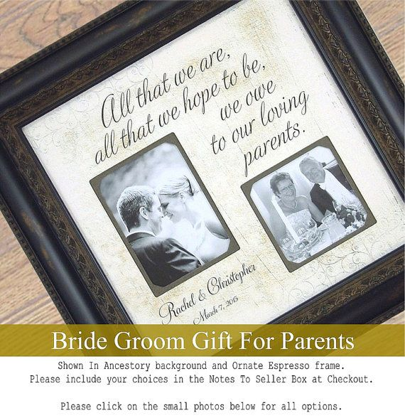 Parents Personalized Wedding Thank You Gift by PhotoFrameOriginals ...