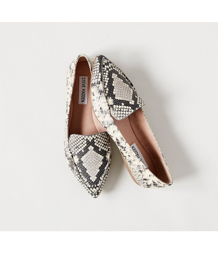 25c9023c124 Steve Madden Feather Snake Print Loafers in 2019 | Fashion | Steve ...