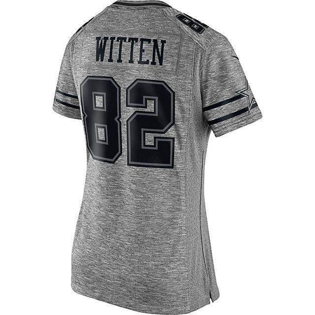 b849636a Dallas Cowboys Womens Jason Witten #82 Nike Gridiron Grey Jersey ...