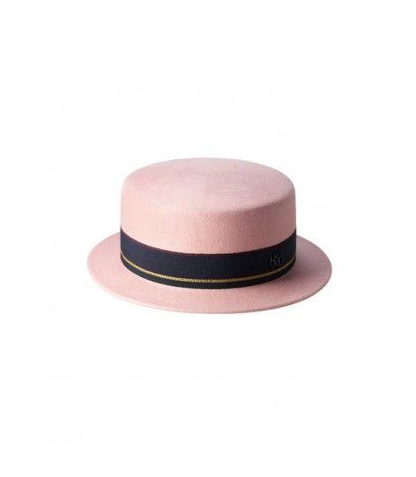 66.9% BLACK FRIDAY SALE | Maison Michel Auguste Canotier Hat English Pink  #cybermondaydeals #blackfridayshopping