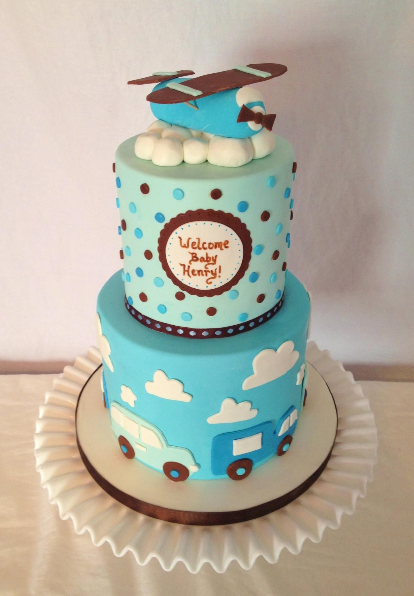 Plane cake Carolines Cakery Facebook page Baby shower