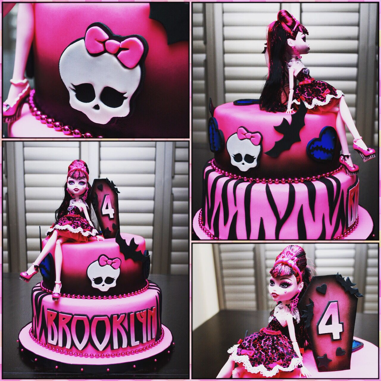 Amazing Monster High Draculaura Cake With Images Monster High Funny Birthday Cards Online Hendilapandamsfinfo